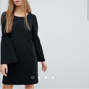 ASOS Bell Sleeve Black Dress